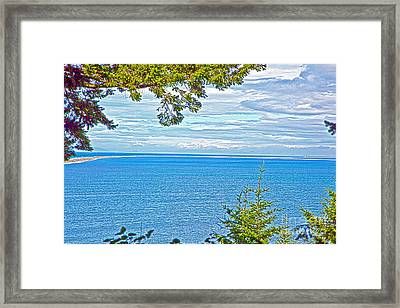 Sequim's Dungeness Spit Framed Print by Molly Heng