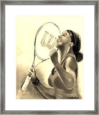Serena In Sepia Framed Print by Carol Allen Anfinsen