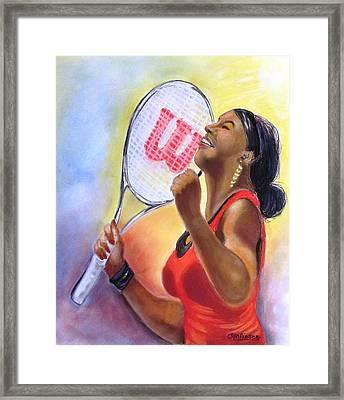 Serena Shines Framed Print by Carol Allen Anfinsen