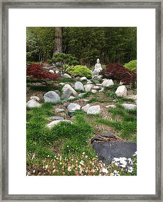 Serene Buddha Framed Print by Kat Ballou