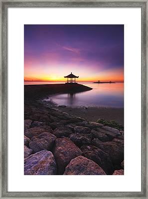 Serene Dawn Framed Print by Pandu Adnyana