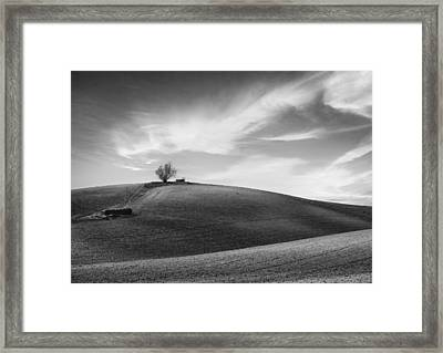 Serenity - Black And White Framed Print by Larry Marshall