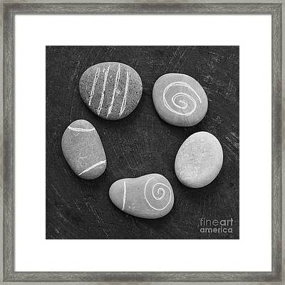 Serenity Stones Framed Print by Linda Woods