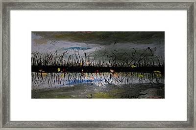 Set On The Firth Marshes Of Karalino Bugaz Goodbye Winter Framed Print by Alik Vetrof