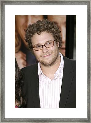 Seth Rogen At Arrivals For You, Me And Framed Print by Everett