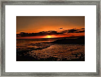 Setting Sun Framed Print by Sheri Bartoszek