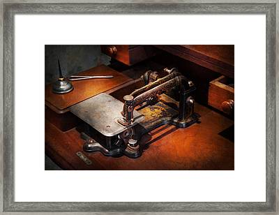 Sewing Machine - Sewing For Small Hands  Framed Print by Mike Savad