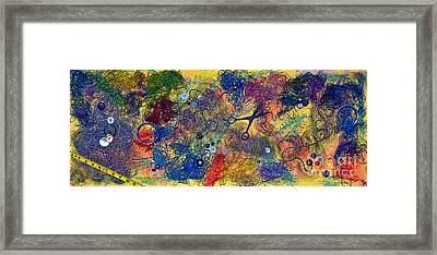 Sewing With Mom Framed Print by Gwyn Newcombe