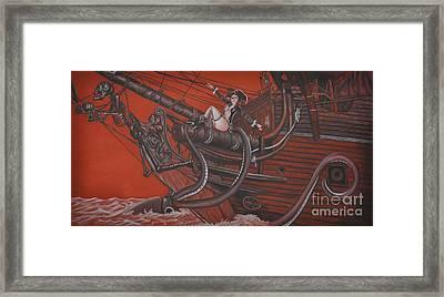 Sexy Pirate Framed Print by Joe Dragt
