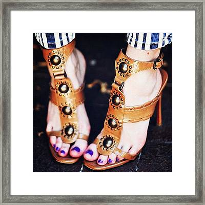 #sexyfeet #feets #sexy #shoes #zapatos Framed Print by José Herreros ♦®