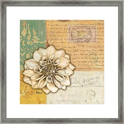 Shabby Chic Floral 1 Framed Print by Debbie DeWitt