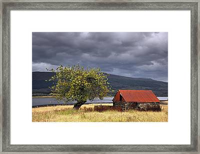 Shack In A Field Strontian, Highland Framed Print by John Short