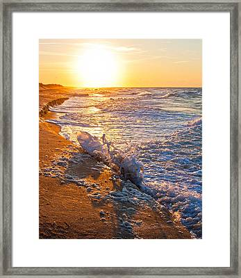 Shackleford Banks Sunrise Framed Print by Betsy C Knapp