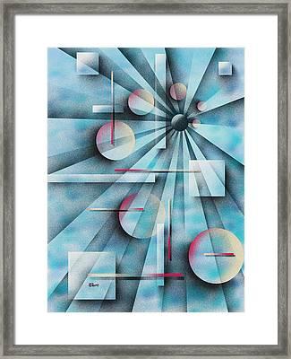 Shades Of Fibonacci Framed Print by Hakon Soreide