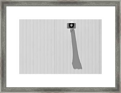 Shadow Of Speaker Framed Print by Daniel Kulinski