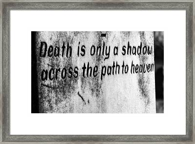 Shadow Framed Print by Off The Beaten Path Photography - Andrew Alexander