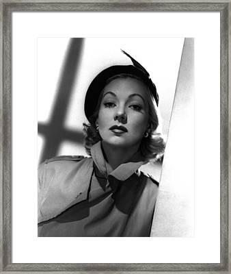Shadow On The Wall, Ann Sothern, 1950 Framed Print by Everett