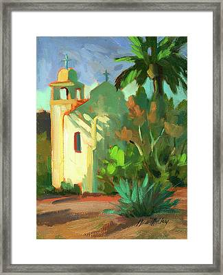 Shadows At St. Richard's Framed Print by Diane McClary