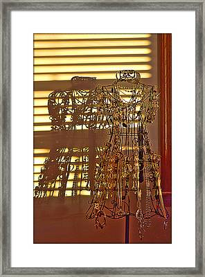 Shadows Of Glamour Framed Print by Shirley Tinkham