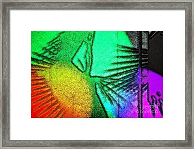 Shadows On The Wall Framed Print by Gwyn Newcombe