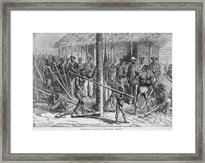 Shaka Slave Market In Africa Framed Print by Everett
