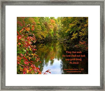 Shall Not Lack Framed Print by Grace Dillon