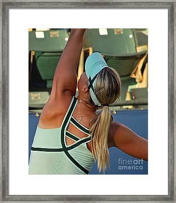 Sharapova Russian Cross Framed Print by Amy Fearn