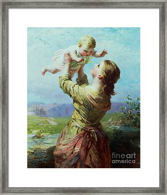 She Looks And Looks And Still With New Delight Framed Print by James John Hill