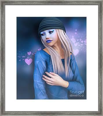 She Loves Caps Framed Print by Jutta Maria Pusl