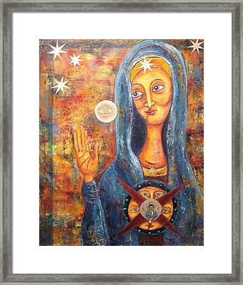 She Sees And Blesses All Framed Print by Suzan  Sommers