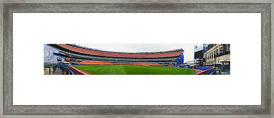 Shea Stadium Pano Framed Print by Dennis Clark