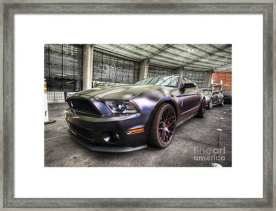 Shelby Gt500kr Framed Print by Yhun Suarez