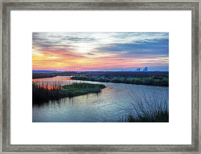 Shelby Lake Monday Hurricane Framed Print by Michael Thomas
