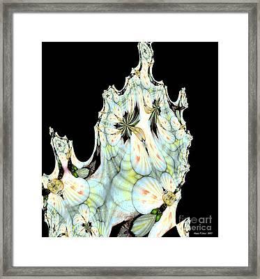 Shell Art 1 Framed Print by Maria Urso