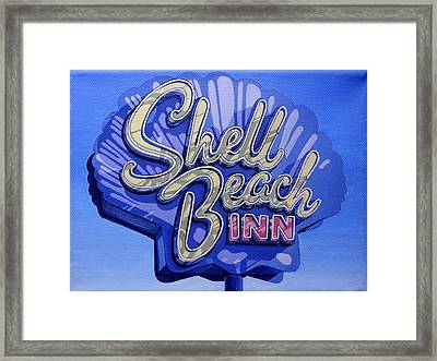 Shell Beach Inn Framed Print by Jeff Taylor
