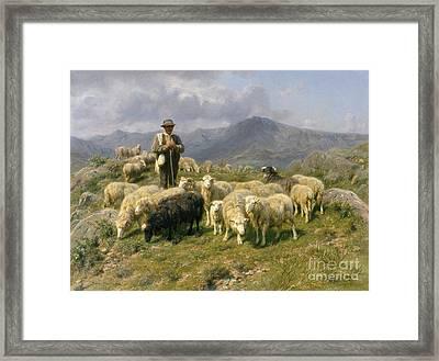 Shepherd Of The Pyrenees Framed Print by Rosa Bonheur