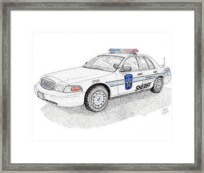 Sheriff Car 2724 Framed Print by Calvert Koerber