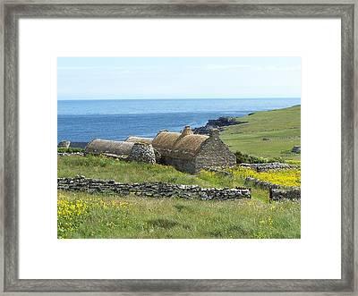 Shetland Croft House Museum Framed Print by George Leask