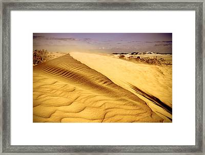 Shifting Sands Framed Print by Heather Thorning