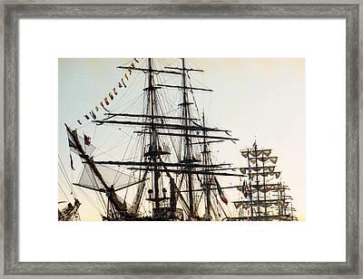 Ship Masts Framed Print by Marcio Faustino