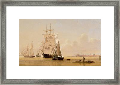 Ship Painting Framed Print by WF Settle
