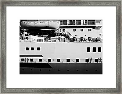 Ship Watching Framed Print by Dean Harte