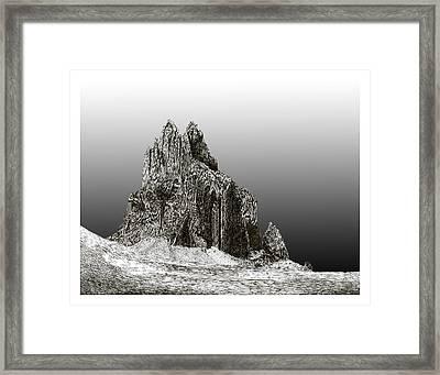 Shiprock Mountain Four Corners Framed Print by Jack Pumphrey