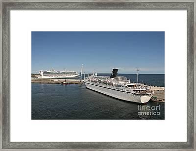 Ships At Port Framed Print by Jaak Nilson