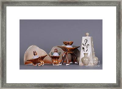 Ships Of The Night Framed Print by Tracy Pickett