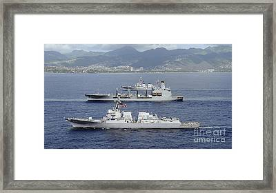 Ships Of The Pacific Fleet Sail Framed Print by Stocktrek Images