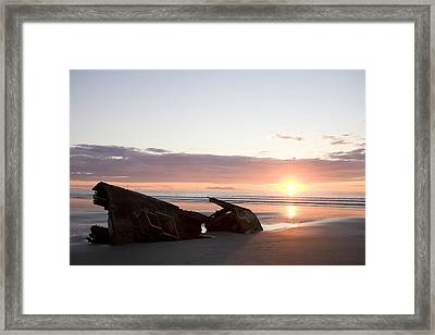 Shipwreck, Boats, Danger, Rotting Framed Print by Taylor S. Kennedy