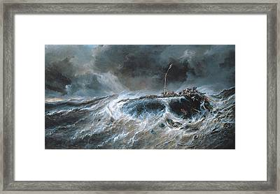 Shipwreck Framed Print by Louis Isabey