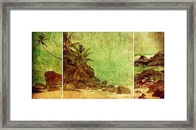 Shipwrecked Framed Print by Andrew Paranavitana