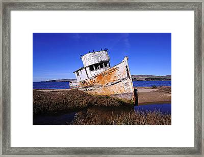 Shipwrecked In Inverness Framed Print by Richard Leon